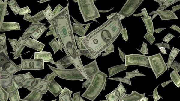 pluie de dollars