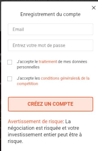 Créer un compte Libertex