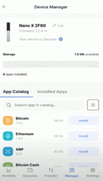 Télécharger chaque application crypto ledger