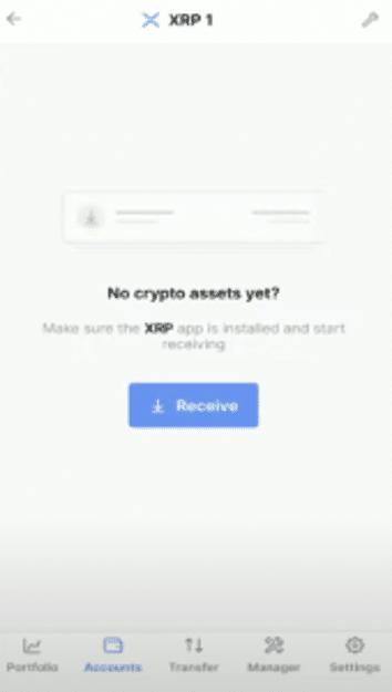 Utiliser l'adresse associée pour recevoir des cryptos sur ledger nano x