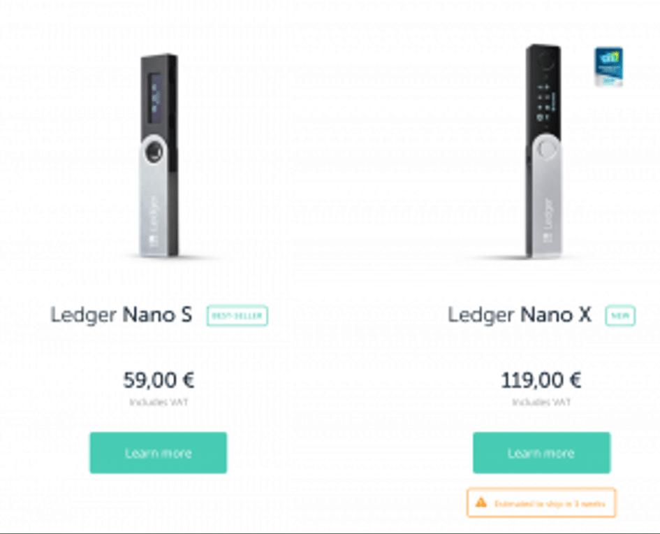 Ledger Nano X ou S ?