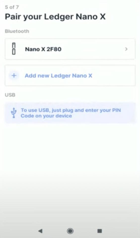 Connecter le Nano X au téléphone