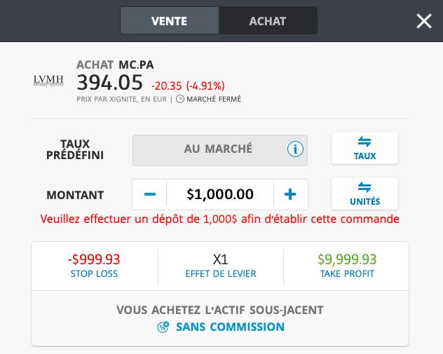 acheter action lvmh
