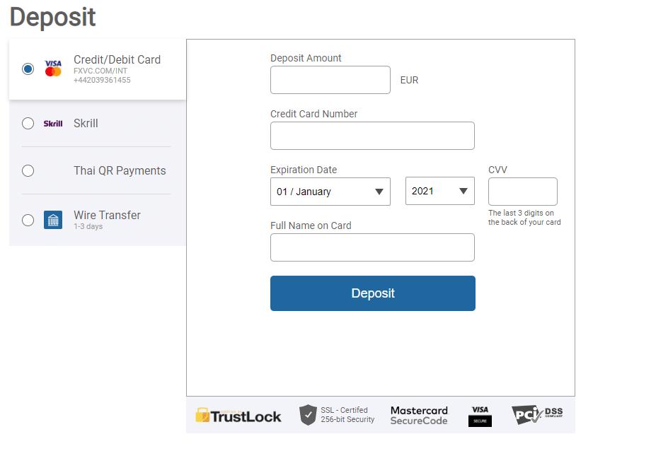 Bitcoin Rush dépôt