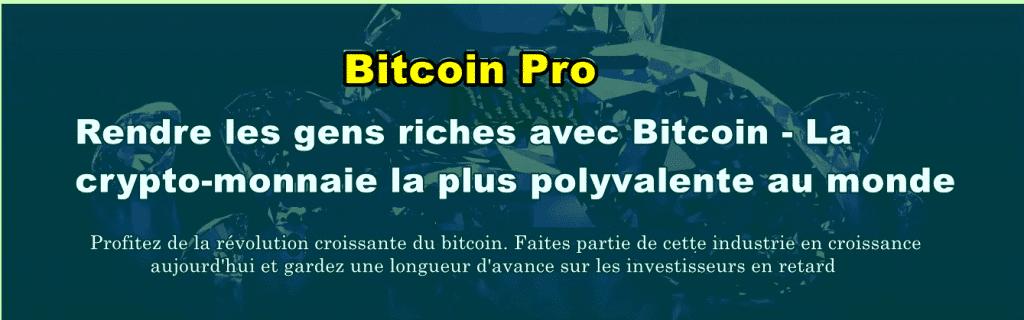 Combien d'Argent Peux-je Gagner avec Bitcoin Pro?