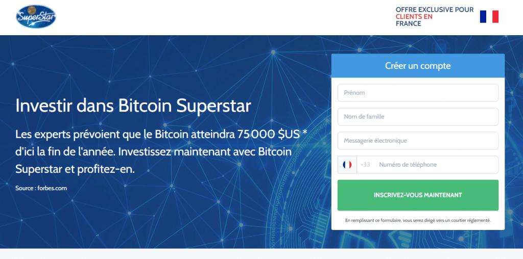 accueil Bitcoin superstar