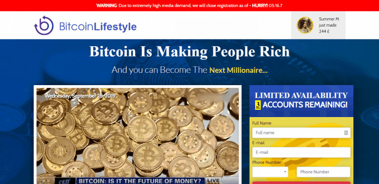 bitcoin lifestyle page