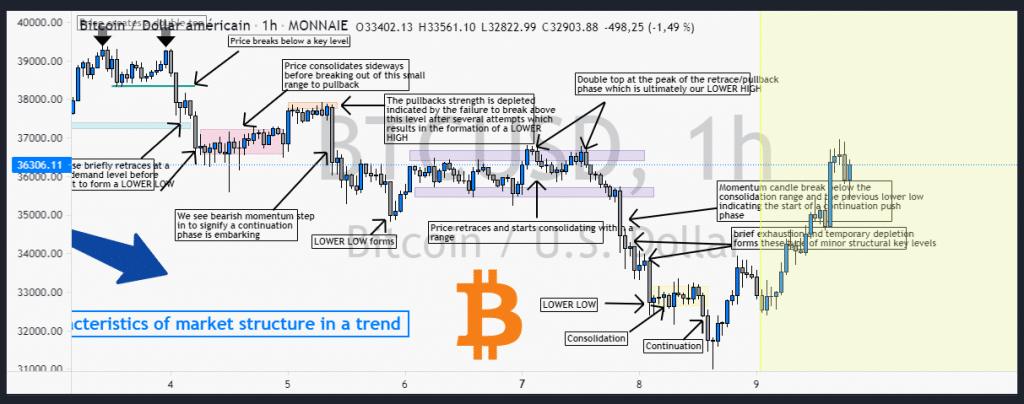 caratéristiques structure marché bitcoin