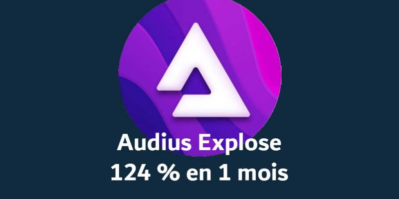AUDIUS Explose 124 % en un seul mois