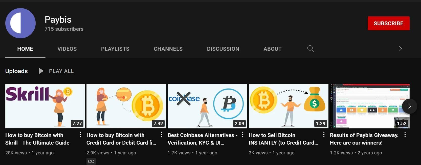 chaîne YouTube crypto