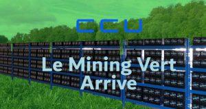 CCU Apporte le Mining Vert de Crypto Monnaie