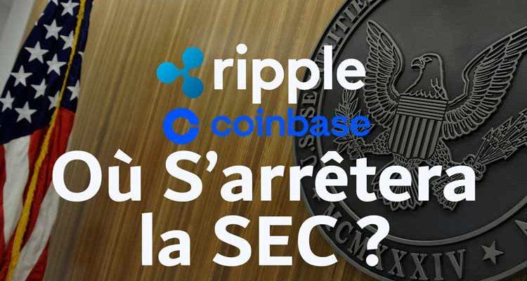 La SEC Poursuit Coinbase après Ripple, et veut le contrôle total des CRypto