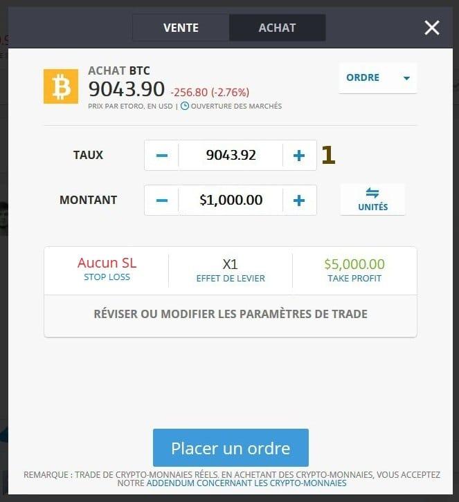 4. Acheter Bitcoin par SMS
