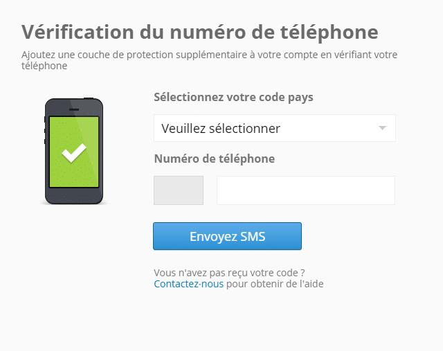 Acheter Bitcoin par SMS