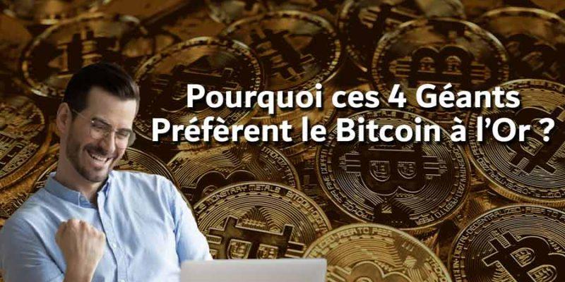 Les milliardaires Préfèrent le Bitcoin à l'Or !